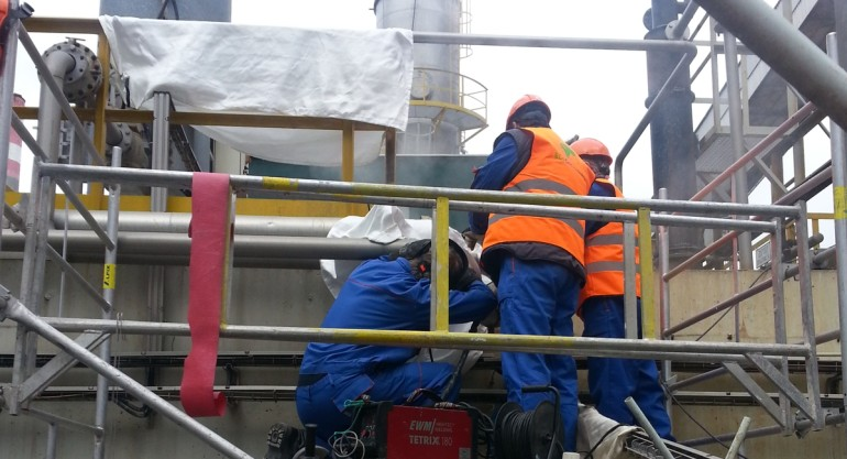 Preol – montáž plynovodu