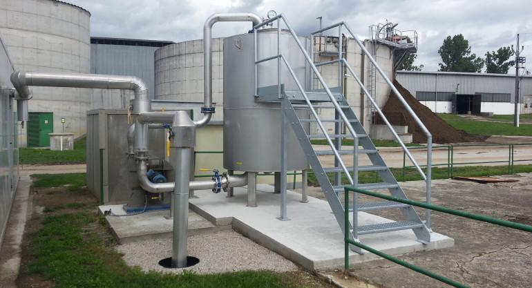 BPS Novosedly – odsíření bioplynu